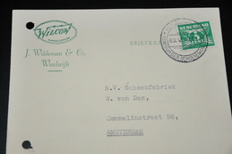 20    BEDRIJFSKAART   WILCOW, J. WILDEMAN & CO.   WAALWIJK - 1942 - Kaarten