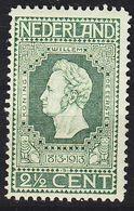 NIEDERLANDE NETHERLANDS [1913] MiNr 0081 B ( */mh ) - Periodo 1891 – 1948 (Wilhelmina)