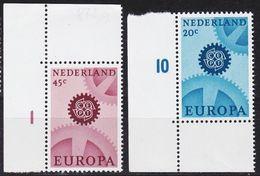 NIEDERLANDE NETHERLANDS [1967] MiNr 0878-79 X ( **/mnh ) CEPT - 1949-1980 (Juliana)