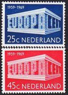 NIEDERLANDE NETHERLANDS [1969] MiNr 0920-21 ( **/mnh ) CEPT - 1949-1980 (Juliana)