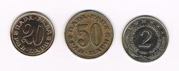 -&  JOEGOSLAVIE  20 En 50  PARA  1981/75 En 2 DINARA 1981 - Yougoslavie