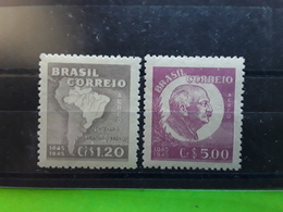 BRASIL / BRAZIL / BRESIL AEREO / AIRMAIL 1945 ,Baron Rio Branco , Serie   Yvert 48 / 49 Neuve  **/ MNH, TB - Poste Aérienne