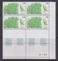 TAAF 1988 Plants 1v  Bl Of 4 (corner, Printing Date) ** Mnh (TA225B) - Ongebruikt