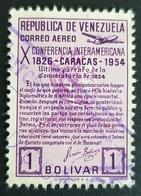 1954, The 10th Pan-American Conference, Caracas, Venezuela, Used - Venezuela