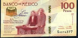 Mexico P130 100 Pesos 1917-2017 Commemorative 2017 Serie AY Au/Unc - México