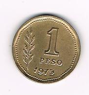 -&  ARGENTINA  1 PESO 1975 - Argentine