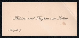 C3775 - Freiherr Und Freifrau Von Teltau - Visitenkarte - Visitenkarten