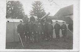 REGIMENT D'ARTILLERIE - SOLDATS Et Leur CANON En CAMPEMENT - Guerre 1914-18 - Carte-photo  - ARTILLERIE - WW1 - A Voir ! - Guerre 1914-18