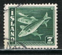 Island 211 B Gestempelt - 7 Aurar Hering 1939 - 1918-1944 Administration Autonome
