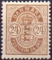 DENEMARKEN 1895-02 24öre Wapentype Tanding 12¾ PF-MNH - Nuovi