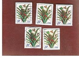 STATI UNITI (U.S.A.) - SG 3280  - 1997  FRUITS: PINEAPPLE (19 X 27)  5 DIFFERENT PERFORATIONS- USED - Used Stamps