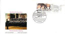 """BRD Schmuck-FDC """"Blockausgabe: Berühmte Knabenchöre"""", Mi. 2318 Aus Block 61 ESSt 13.2.2003 BONN - [7] République Fédérale"""