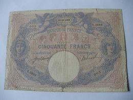 BILLET 50 F BLEU ET ROSE  13/10/1909 FAY 14/22 - 50 F 1889-1927 ''Bleu Et Rose''
