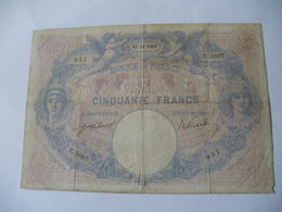 BILLET 50 F BLEU ET ROSE  17/12/1910 FAY 14/23 - 50 F 1889-1927 ''Bleu Et Rose''