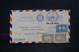 HONDURAS - Enveloppe Du Rotary Club De Fuerto Cortes Pour Monaco En 1947 , Affranchissement Recto Et Verso - L 25728 - Honduras