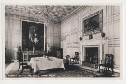 AK25 Warwick Castle, The State Dining Room - RPPC - Warwick