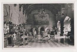 AK25 Warwick Castle, The Great Hall - RPPC - Warwick