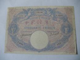 BILLET 50 F BLEU ET ROSE  09/12/1911 FAY 14/24 - 50 F 1889-1927 ''Bleu Et Rose''