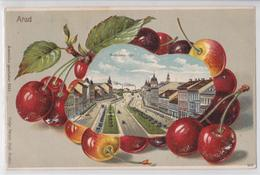 ARAD (Romania) - Andrassy-tér - Magyar Posta Stamp Cancellation - Fantaisie Cerise - Cherry Fruit - Roumanie