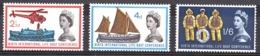 GB - 1963 - N° 375 à 377 - Avec Bandes De Phospore - Neufs * - Sécurité Maritime - Cote + 70 - Unused Stamps