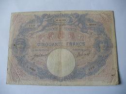BILLET 50 F BLEU ET ROSE  16/11/1912 FAY 14/25 - 50 F 1889-1927 ''Bleu Et Rose''