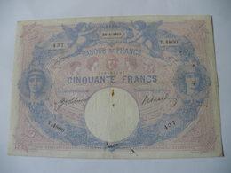 BILLET 50 F BLEU ET ROSE  29/08/1913 FAY 14/26 - 50 F 1889-1927 ''Bleu Et Rose''