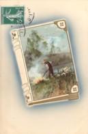 Couverture De Livre Et Paysan Carte  Gaufrée En Relief Embossed Card Meissner & Buch - Autres
