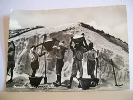 1955  - Marsala - Isola Lunga Saline - Operai Del Sale - Costumi Lavori Tradizioni - Vera Fotografia - Marsala