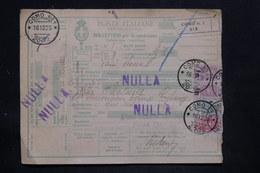 ITALIE - Colis Postal De Como Pour Paris Via Modane En 1925 , Affranchissement Plaisant - L 25731 - Paketmarken