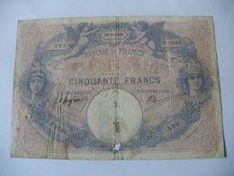 BILLET 50 F BLEU ET ROSE  29/09/1904 FAY 14/16 - 50 F 1889-1927 ''Bleu Et Rose''