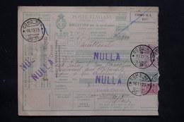 ITALIE - Colis Postal De Como Pour Paris Via Modane En 1925 , Affranchissement Plaisant - L 25732 - Paketmarken