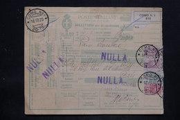 ITALIE - Colis Postal De Como Pour Paris Via Modane En 1925 , Affranchissement Plaisant - L 25733 - Paketmarken
