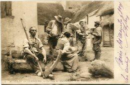 LA PAIE DES MOISSONNEURS - L. LIBERMITTE. MUSEE DU LUXEMBOURG - CPA POSTAL CARD CIRCULATED 1912 - LILHU - Peintures & Tableaux