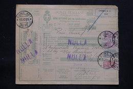 ITALIE - Colis Postal De Como Pour Paris Via Modane En 1925 , Affranchissement Plaisant - L 25734 - Paketmarken