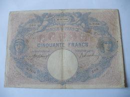 BILLET 50 F BLEU ET ROSE  25/11/1916 FAY 14/29 - 50 F 1889-1927 ''Bleu Et Rose''