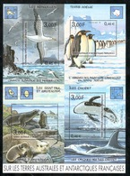 TAAF - 2001 - BF Sur Les TAAF - Animaux - Dessins De JC Mézières ** - Terres Australes Et Antarctiques Françaises (TAAF)