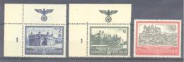 General Gouvernement Michel #  63 - 65 **  OR Mit NSDAP Wappen Reichsadler Mit Swastika - Occupation 1938-45