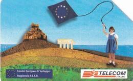SCHEDA TELEFONICA  FONDO EUROPEO SVILUPPO REGIONALE  SCADENZA 31/12/1998 USATA - Italia