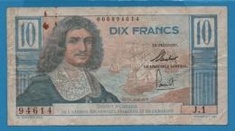 AFRIQUE ÉQU. FRANÇAISE ET CAMEROUN 10 FrancsND (1957)Serie J.1 94614  P# 29 Jean-Baptiste Colbert - Cameroon