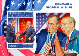 Central Africa 2018    George W. Bush , Mikhail Gorbachev  S201902 - Central African Republic