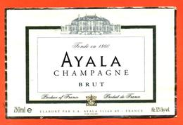 étiquette De Champagne Brut Ayala à Ay - 75 Cl - Champagner