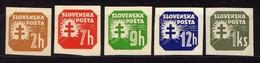 Slowakei / Slovakia, 1939, Mi  54; 56-57; 59; 65 X ** [240319XXIV] - Slovakia
