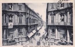 AO68 Palermo, Quattro Cantoni Con Via Macqueda - 1913 Postcard - Palermo