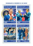 Central Africa 2018    George W. Bush , Mikhail Gorbachev ,Boris Yeltsin, Ronald Reagan   S201902 - Central African Republic