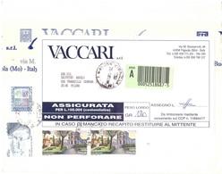 ASSICURATA CON 2 X £3200 CENTRO STORICO DI ROMA SAN GREGORIO - 6. 1946-.. Repubblica