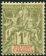 Anjouan (1892) N 13 * (charniere) - Anjouan (1892-1912)
