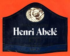 étiquette De Champagne Brut 1757 Henri Abelé à Reims - 75 Cl - Champagne
