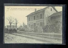 CPA Guerre De 1914/1918 - En Haute Alsace La Gare De Burnhaupt Occupée Par Les Soldats Français - Guerre 1914-18
