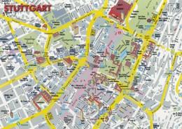 MAP POSTCARDS FROM AROUND THE WORLD / STUTTGART STREET PLAN - GERMANY - Carte Geografiche