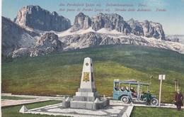 PASSO DEL PORDOI-PORDOIJOCH-TRENTO-DOLOMITENSTRASSE-AUTO-CAR-VOITURES-CARTOLINA NON VIAGGIATA ANNO 1915-1925 - Trento